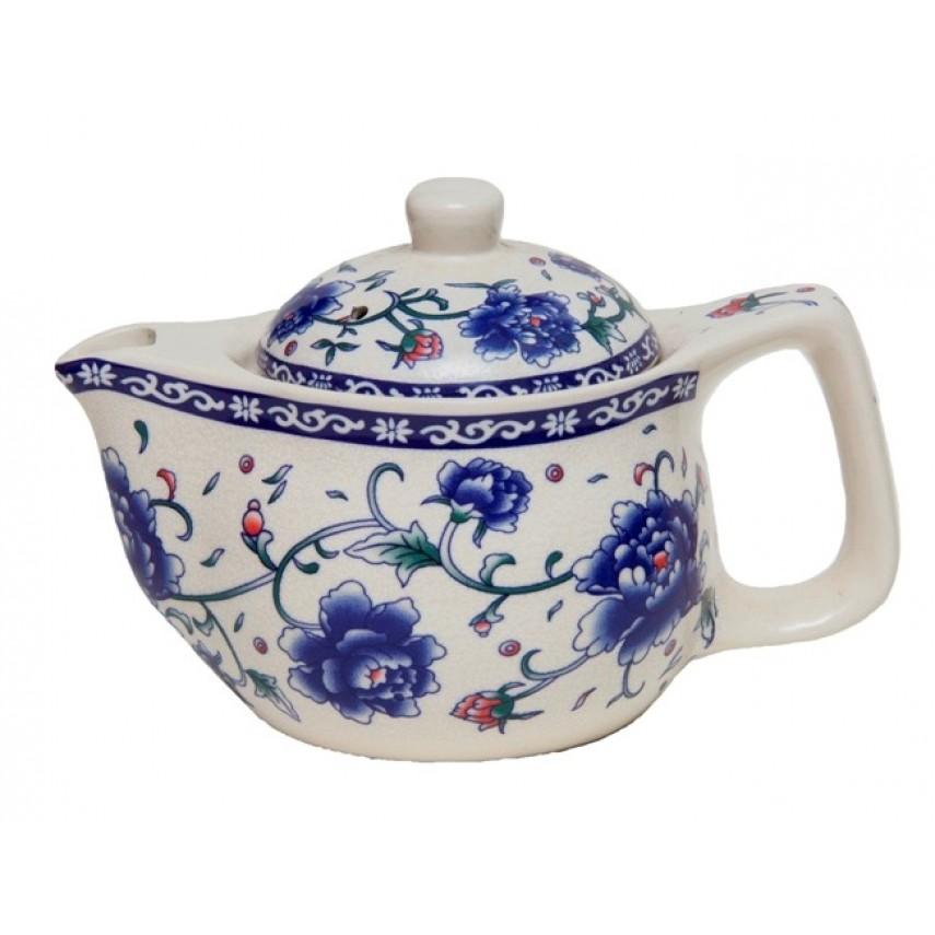 "Чайник керамический ""Синий Пион"" 425 мл"