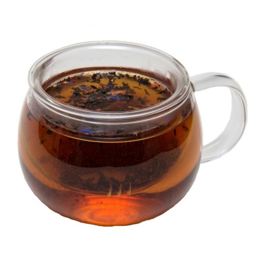 Чашка стеклянная с ситом